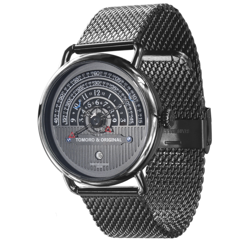 Hemi circle dial watch