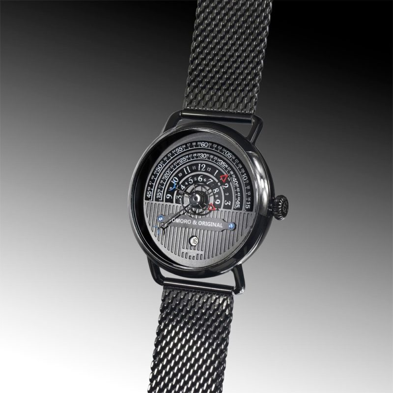 Hemi circle dial watch tomoro watch front view
