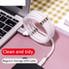 Magnetic Storage Data Cable Automatically Retractable Charging Cable